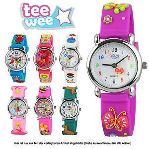 【送料無料】ティーカフウォッチteewee kinderuhr per ragazze bracciale 3d orologi per bambini motivo selezione uw102x