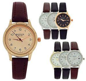 【送料無料】アナログストラップreflex signore ragazze analogico pu cinturino orologio regalo per lei