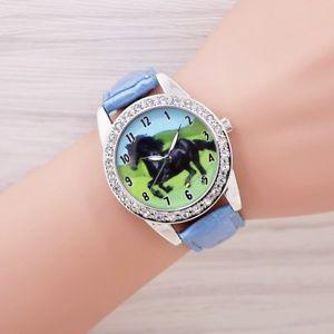 【送料無料】ファッションレザーストラップデニムhorse watches men and women dress fashion leather strap denim wristwatch quar