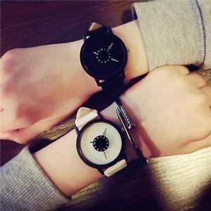 【送料無料】クオーツorologio in pelle orologi da polso moda creativa uomini donne orologio al quarzo quadrante unico