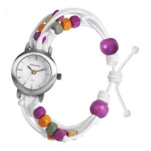 【送料無料】カフナステンレススチールウォッチkhnp klf0015l kahuna donna in acciaio inox watch