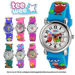 【送料無料】ティーカフteewee kinderuhr animali natura bracciale 3d orologi per bambini motivo selezione uw103x