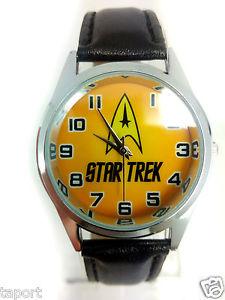 【送料無料】スタートレックステンレススチールファッションウォッチsci fi star trek startrek giallo orologio in acciaio inox dvd fashion watch uk