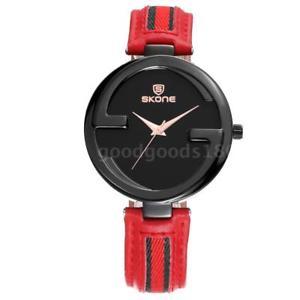 【送料無料】ファッションクォーツウォッチskone fashion quartz genuine leather women watch 3atm orologio da polso b6a8