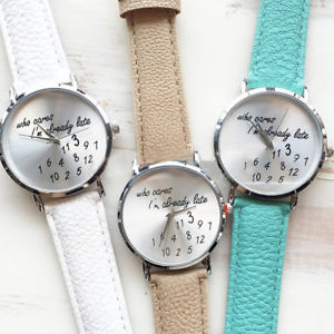 【送料無料】ストラップorologio da who donna polso da cares cinturino simil pelle watch xg