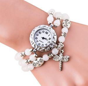 【送料無料】シルバーブレスレットペンダントピンクチェーンorologio da polso donna argento bracciale a catena con ciondolo nero bianco rosa