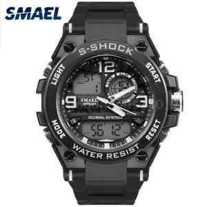 【送料無料】#スタイリッシュスポーツウォッチデュアルmenamp;39;s stylish sports multifunction electronic watch impermeabile dual f0c9