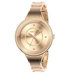 【送料無料】クォーツピンクゴールドブレスレットjune amp; ed orologio da polso donna in quarzo al rosa oro braccialetto w0001