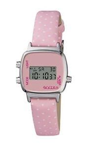 【送料無料】ピンクアナログクリアクロックclear tikkers orologio da ragazza con rosa chiaro display analogico e yfl