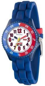 【送料無料】シリコンストラップクロックーtikkers bambini tempo insegnante autopompa blu navy cinturino orologio in siliconentk0009