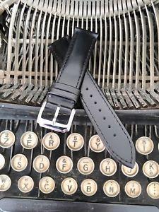 【送料無料】ブレスレットノワールbracelet montre en cuir noir 20 mm