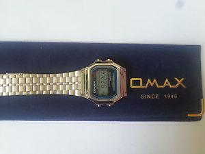 【送料無料】デジタルクロノグラフomax uomo donna lcd digitale cronografo metallo color argento orologio