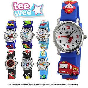【送料無料】ティーカフteewee kinderuhr per ragazzi bracciale 3d orologi per bambini motivo selezione uw101x