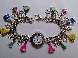 【送料無料】ドレスブレスレットペンダントアリエルジャスミンabito principessa handmade bracciale con charm orologio con 22 ciondolibelle, ariel, jasmine