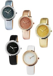 【送料無料】アナログワウウォッチexcellanc donna strass pelle orologio da polso ragazza donna orologio analogico watch wow