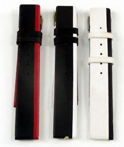 【送料無料】トランスミッションカフカフスペアベルトバックルorologio orologi bracciale di ricambio nastro fibbia in pelle liscia 1418 mm bracciale di cambio