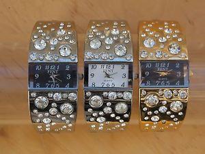 【送料無料】ブレスレットクリップmontre femme bracelet clip bijou strass design