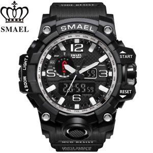 【送料無料】スポーツシルバークロッククオーツアナログデジタルsmael impermeabile sport militare argento orologio uomo analogico quarzo orologio digitale