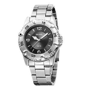 【送料無料】ステンレススチールストラップクォーツskone 3215 lover water resistant stainless steel strap quartz watch