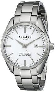 so amp; co  york  orologio da polso, uomo, analogico, cinturino in metallo