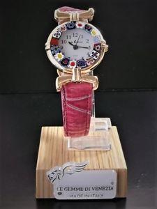 【送料無料】ムラノガラスレディゴールドウォッチウォッチorologio donna dorato watch in vetro di murano murrina millefiori