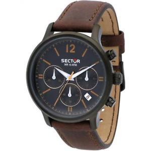 【送料無料】セクタークロックマンクロノグラフレザーストラップブラウンsector 640 orologio uomo cronografo cinturino pelle marrone r3271693001