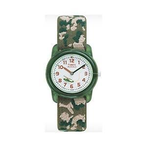 【送料無料】チップクロックカムフラージュプラスチックレンズtimex t78141 bimbi orologio camouflage con rottura in schegge non pericolose finestra in plastica l