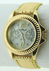 【送料無料】プラスチックカラーゴールドgolddigga dig54b orologio da polso donna, plastica, colore oro g9n