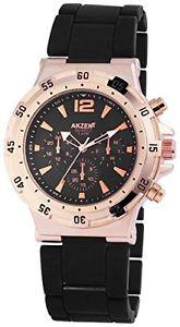 【送料無料】akzent ss8841000014 orologio da polso uomo, lega, colore nero l7v