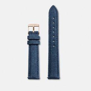 【送料無料】ストラップクロックウォッチスキンデニムジーンズストラップバックルピンクcinturino orologio cluse cls330 minuit watch pelle denim jeans strap fibbia rosa