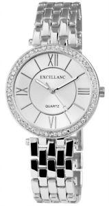 【送料無料】シルバーexcellanc 1509orologio da polso da donna colori argento con strass orologio orologio da polso da donna