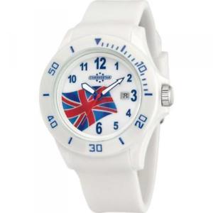 【送料無料】クロックマンゴムchronostar orologio uomo military solo tempo gomma bianco r3751231016