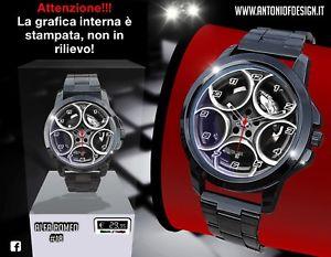 【送料無料】アルファロメオマンスポーツサークルステンレスホイールorologio da polso alfa romeo uomo sport cerchio stainless watch montre 18 wheel
