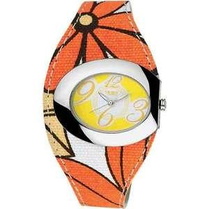 【送料無料】リストbreil flower 6819250731 orologio donna pelle tessuto listino 80 sottocosto