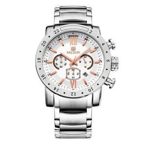 【送料無料】メンズステンレススチールmagideal mens orologio da polso in acciaio inossidabile 3atm orologi