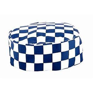 【送料無料】シェフチェスケータリングnextday catering a164grandi chef skullcap scacchi, bianco e blu