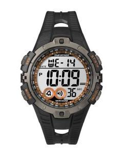 【送料無料】マラソンブラックシリコンクロノアラームタイマーメートルorologio timex marathon t5k801 silicone nero chrono timer sveglia 50mt