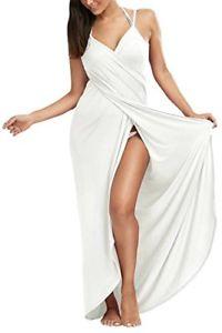 【送料無料】ベージュストラップカプセルbeige xlarge dromild vestito lungo da donna avvolgente con cinturino alla qq7