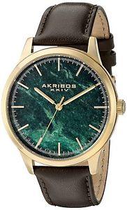 【送料無料】クオーツアナログakribos xxiv ak937brgn orologio da polso al quarzo, analogico, uomo, o4u