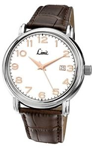 【送料無料】アナログブラウンストラップlimit orologio da polso uomo analogico cinturino marrone nuovo 5051322056546