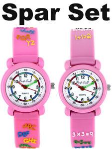 【送料無料】シリコンピンクウォッチorologi da polso bambini ragazze lernuhr kinderuhr silicone orologi da polso abc 1x1 rosa