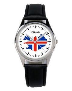 【送料無料】アイスランドアイスランドファンアクセサリーガジェットislanda iceland souvenir regalo fan articolo accessori gadget orologio b1116