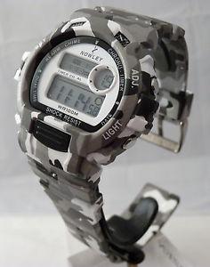【送料無料】タイマーreloj nowley 8618203 camuflage gris wr 100m 2 horas cronoalarmatimer