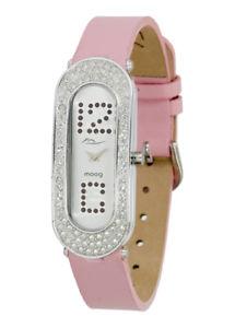 【送料無料】パリスワロフスキーブレスレットローズmoog paris montre femme avec cadran argent, elments swarovski, bracelet rose