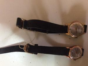【送料無料】バッチビンテージオペレーティングlotto di 2 orologi donna a carica manuale vintage anni 6070 funzionanti