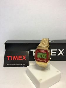 【送料無料】クロックビンテージデジタルスチールorologio timex vintage retro digitale acciaio gold ref tw2p48500 nuovo