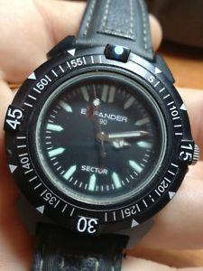 【送料無料】セクタークロックマンレザーsector expander 90 orologio uomo ref3251197025 pelle nero quarzo no limits