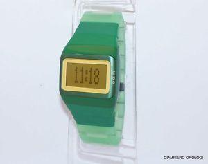【送料無料】ストラップクロックデジタルオリジナルcinturino x orologio odm digitale green orginale con data e mese nuovo