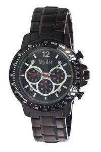 【送料無料】クロックマンスポーツmador mam559 orologio al quarzo uomo con display giorno e data sportivo,