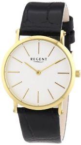 【送料無料】リージェントレザーカラーブラックregent 12100553 orologio da polso donna, pelle, colore nero